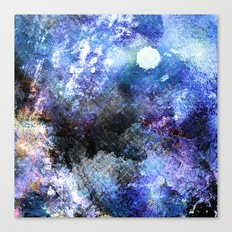 Winter Night Orchard Canvas Print