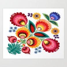 Slavic Folk Pattern Art Print