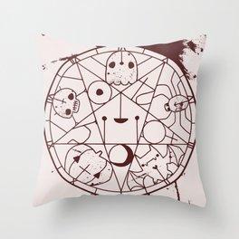 PENTACUTIES Throw Pillow