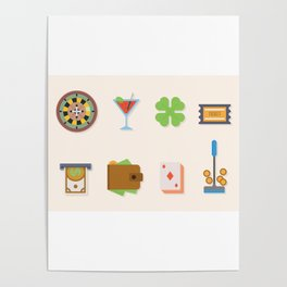 Partying, Poker & Money - Nevada Day Poster