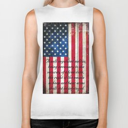 2nd Amendment on American Flag - Vertical Print Biker Tank