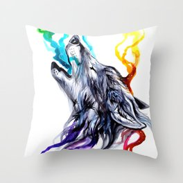 Smoke Signals Throw Pillow