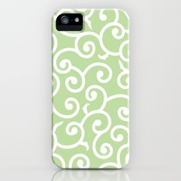 Green Batik 1 iPhone Case