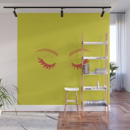 Betty Gone Batty (Red on Chartreuse Edition) Wall Mural