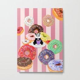Panda & Donuts Metal Print