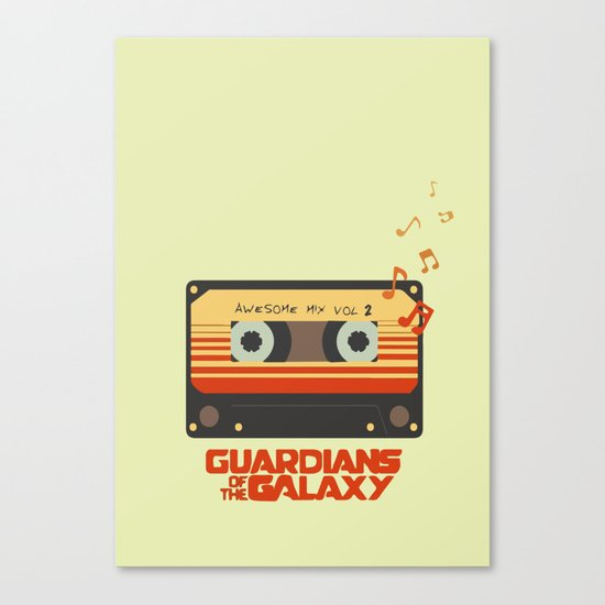 Music, Guardians of the Galaxy, Movie Canvas Print