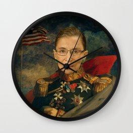 Justice Ruth Bader Ginsburg Classical Regal General Painting Wall Clock