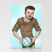 volleyball Stationery Cards featuring volleyball guy by Isaac Fortaich