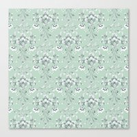 damask Canvas Prints featuring Damask... by Catherine Ann Lewis