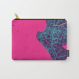 Pattaya Neon City Map, Pattaya Minimalist City Map Art Print Carry-All Pouch
