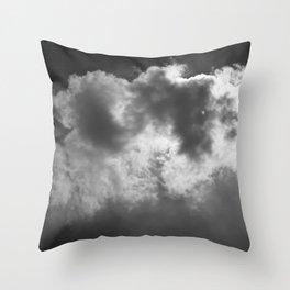 Lone Cloud (over Manhattan) Throw Pillow