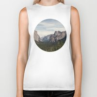 yosemite Biker Tanks featuring Yosemite Valley by Laura Ruth
