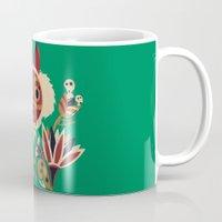 deco Mugs featuring Mono Deco by Ashley Hay