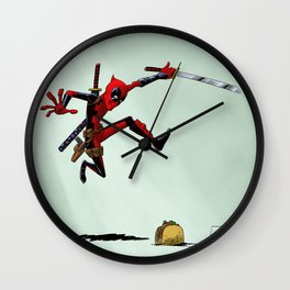 Taco attack Wall Clock