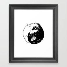 The Tao of French Bulldog Framed Art Print