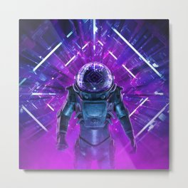 Entering The Unknown Metal Print