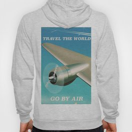 Travel the world - Go by air vintage poster Hoody