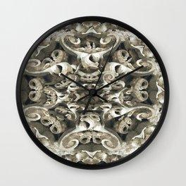 Sculpted Flower Frieze Wall Clock
