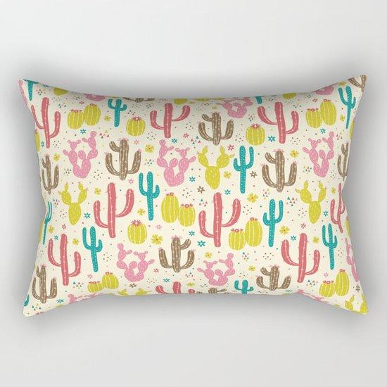 Prickly Cactus Rectangular Pillow