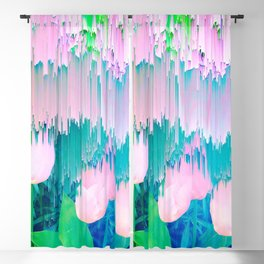 No Rain, No Flowers - tulip Glitch #homedecor #buyart Blackout Curtain