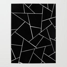 Black White Geometric Glam #2 #geo #decor #art #society6 Poster