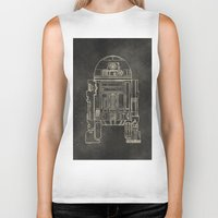 r2d2 Biker Tanks featuring R2D2 by LindseyCowley
