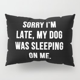Sorry I'm late, my dog was sleeping on me. Pillow Sham