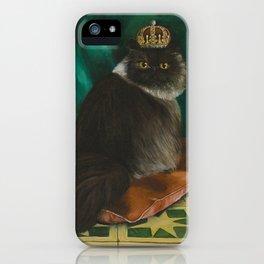 DONETE, A FANCY CHOCOLATE PERSIAN CAT iPhone Case