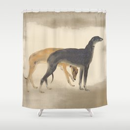 Two Greyhounds Shower Curtain