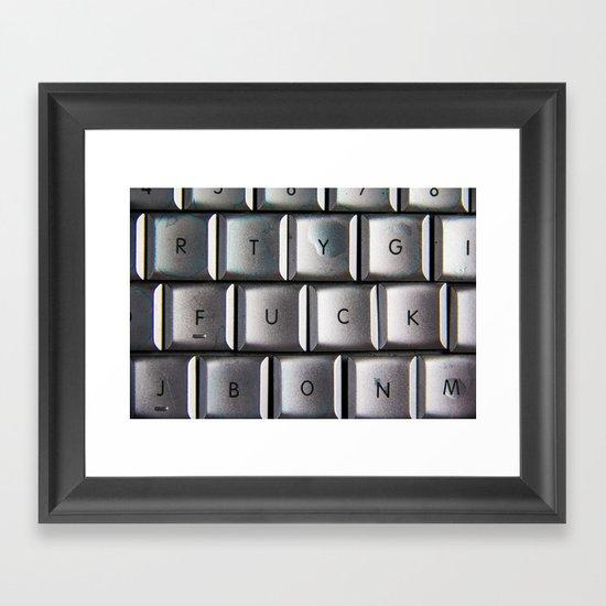 F WORD Framed Art Print