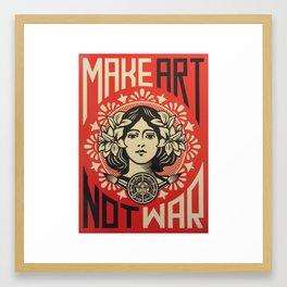 MAKE ART, NOT WAR Framed Art Print