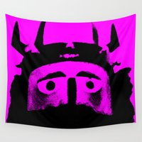 viking Wall Tapestries featuring VIKING (PINK) by Silvio Ledbetter
