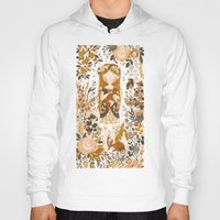 animals Hoodies featuring The Queen of Pentacles by Teagan White