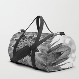 Beautiful Black White Flower Abstract Duffle Bag