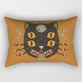 Spooky Cat Rectangular Pillow