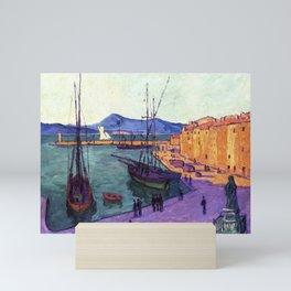 Port Scene of Saint-Tropez, France, Evening Effect by Francis Picabia Mini Art Print