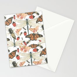Scattered Bugs Stationery Cards