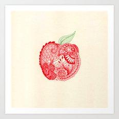 An Apple A Day... Art Print