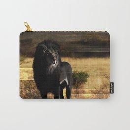 lion black lion mane rock Carry-All Pouch