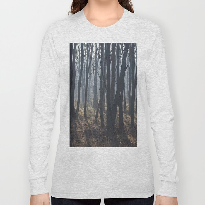 Fog Autumn forest Long Sleeve T-shirt