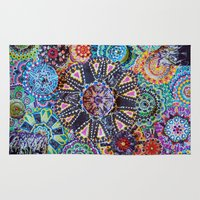 rave Area & Throw Rugs featuring Rave by artworkbyemilie