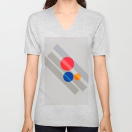 Abstract Suprematism Equilibrium Art Red Blue Yellow Unisex V-Neck