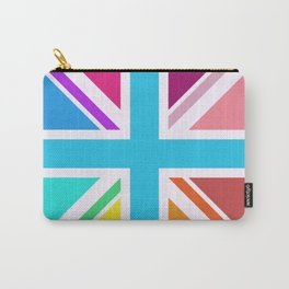 Square Based Union Jack/Flag Design Multicoloured Carry-All Pouch