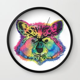 Racoon Colorful Wall Clock