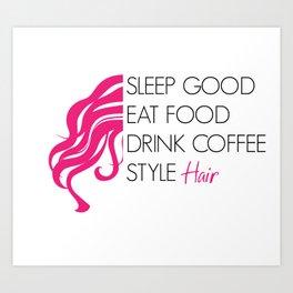Style Hair Art Print