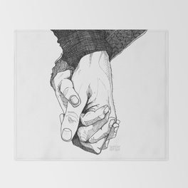 I Want To Hold Your Hand Throw Blanket
