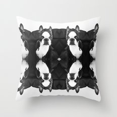 Lulo's evil look. Throw Pillow