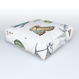 Print for travelers Outdoor Floor Cushion