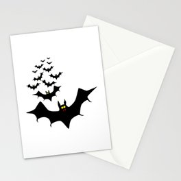 Isolated Bats Stationery Cards