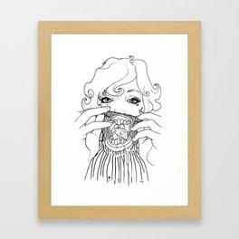 Sweet Rotten Scream Framed Art Print